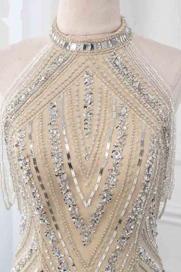 Gorgeous High-Neck Sleeveless Mermaid Prom Dresses with Rhinestoes Online_5