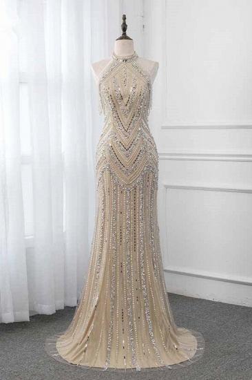 Gorgeous High-Neck Sleeveless Mermaid Prom Dresses with Rhinestoes Online_1