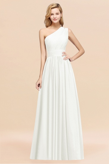 Stylish One-shoulder Sleeveless Long Junior Bridesmaid Dresses Affordable_2