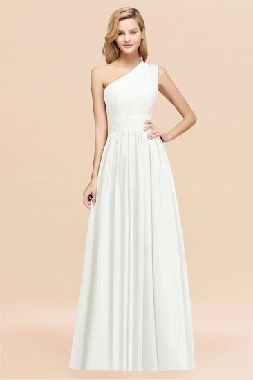 BMbridal Stylish One-shoulder Sleeveless Long Junior Bridesmaid Dresses Affordable_2