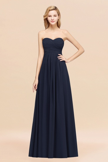Vintage Sweetheart Long Grape Affordable Bridesmaid Dresses Online_28