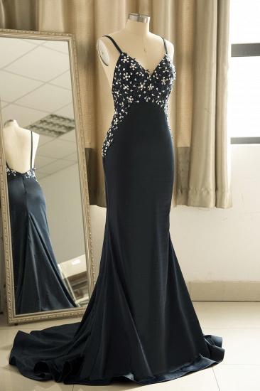Affordable Spaghetti Straps V-Neck Prom Dresses Sleeveless Appliques Beadings Party Dresses Online_4