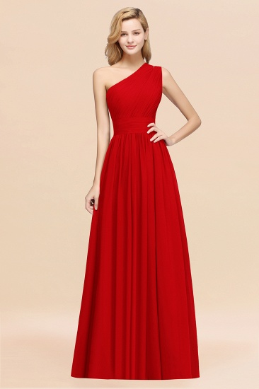 BMbridal Stylish One-shoulder Sleeveless Long Junior Bridesmaid Dresses Affordable_8