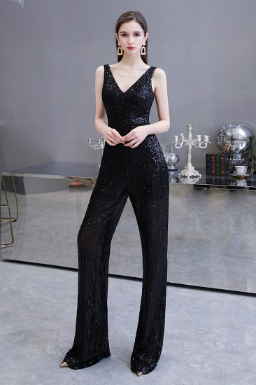 Stunning Sequins V-Neck Sleeveless Jumpsuit Event Party Gowns On Sale_13