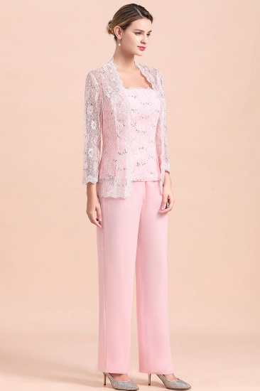 Elegant Strapless Appliques Mother of Bride Jumpsuit with Long Sleeves Wraps_7