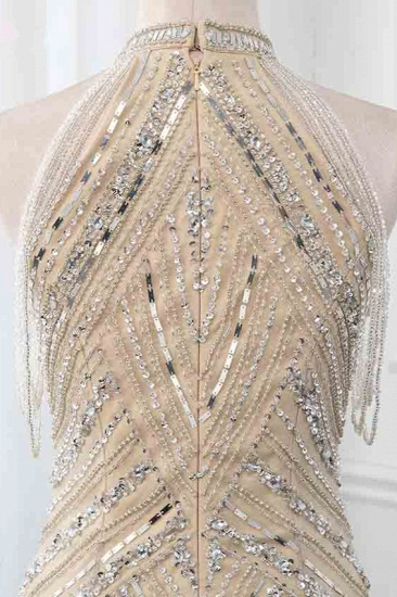 BMbridal Gorgeous High-Neck Sleeveless Mermaid Prom Dresses with Rhinestoes Online_7