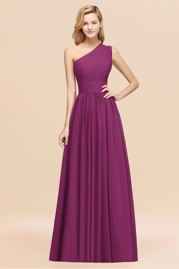 BMbridal Stylish One-shoulder Sleeveless Long Junior Bridesmaid Dresses Affordable_42