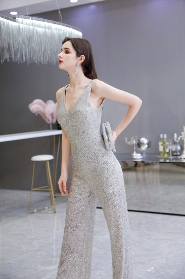 Stunning Sequins V-Neck Sleeveless Jumpsuit Event Party Gowns On Sale_8