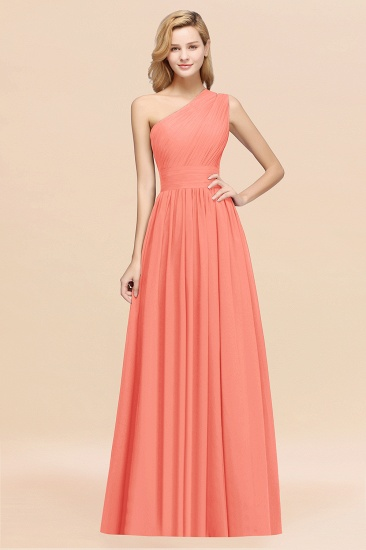 BMbridal Stylish One-shoulder Sleeveless Long Junior Bridesmaid Dresses Affordable_45