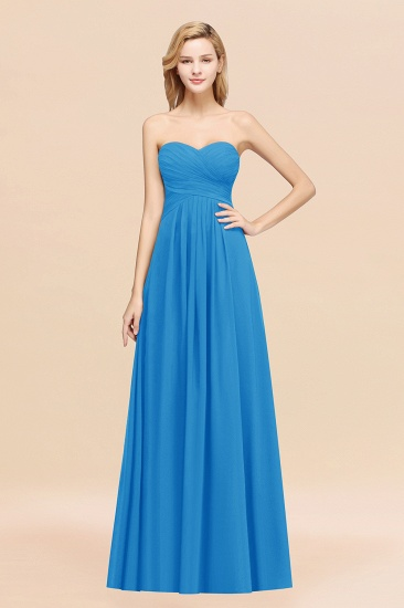 Vintage Sweetheart Long Grape Affordable Bridesmaid Dresses Online_25