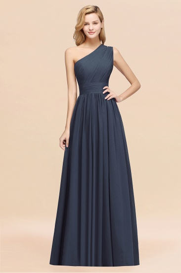 BMbridal Stylish One-shoulder Sleeveless Long Junior Bridesmaid Dresses Affordable_39