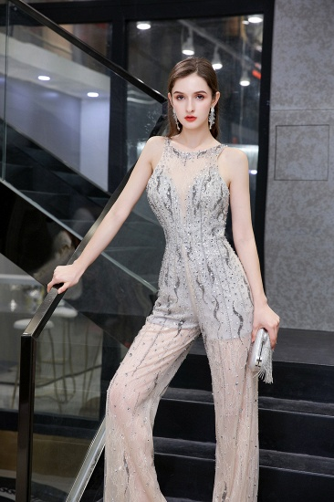 BMbridal Glamorous Jewel Sleeveless Tulle Evening Jumpsuit with Sequins_9