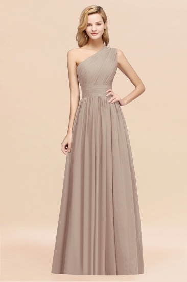 Stylish One-shoulder Sleeveless Long Junior Bridesmaid Dresses Affordable_16