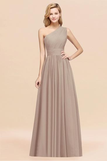 BMbridal Stylish One-shoulder Sleeveless Long Junior Bridesmaid Dresses Affordable_16