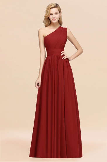BMbridal Stylish One-shoulder Sleeveless Long Junior Bridesmaid Dresses Affordable_48