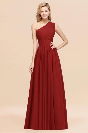 BMbridal Stylish One-shoulder Sleeveless Long Junior Bridesmaid Dresses Affordable_48