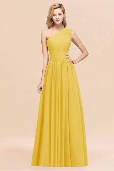 BMbridal Stylish One-shoulder Sleeveless Long Junior Bridesmaid Dresses Affordable_17