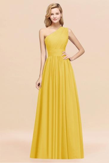 BMbridal Stylish One-shoulder Sleeveless Long Junior Bridesmaid Dresses Affordable_17