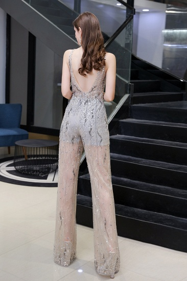 BMbridal Glamorous Jewel Sleeveless Tulle Evening Jumpsuit with Sequins_4