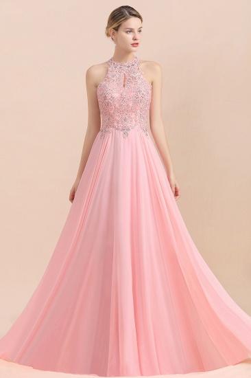 BMbridal A-line Chiffon Lace Ruffles Bridesmaid Dress with Beadings_2