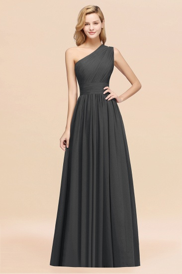 Stylish One-shoulder Sleeveless Long Junior Bridesmaid Dresses Affordable_46
