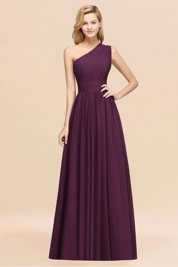 BMbridal Stylish One-shoulder Sleeveless Long Junior Bridesmaid Dresses Affordable_20
