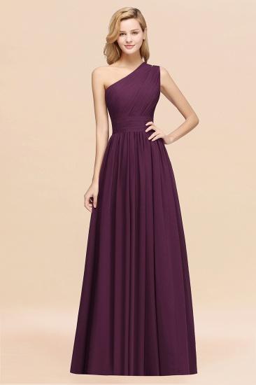 Stylish One-shoulder Sleeveless Long Junior Bridesmaid Dresses Cheap_20