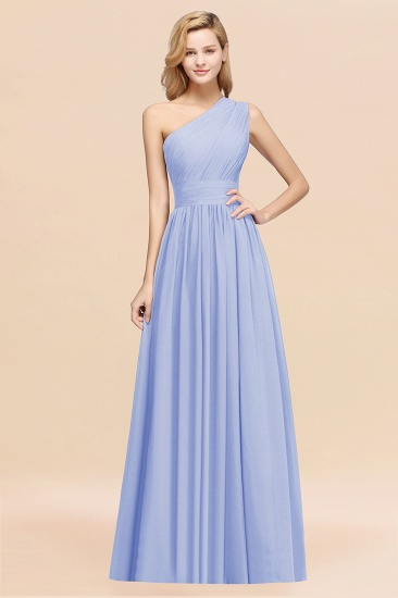 Stylish One-shoulder Sleeveless Long Junior Bridesmaid Dresses Affordable_22