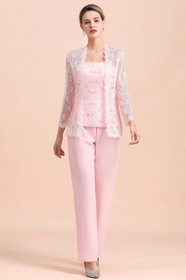 Elegant Strapless Appliques Mother of Bride Jumpsuit with Long Sleeves Wraps_4