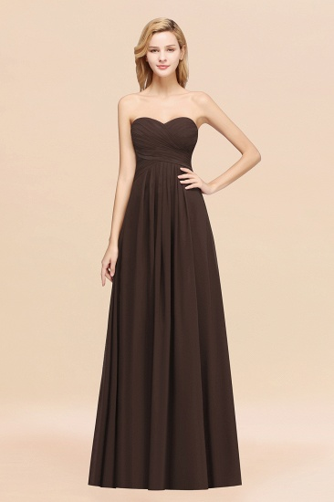 Vintage Sweetheart Long Grape Affordable Bridesmaid Dresses Online_11