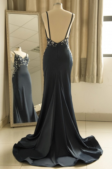 BMbridal Affordable Spaghetti Straps V-Neck Prom Dresses Sleeveless Appliques Beadings Party Dresses Online_10