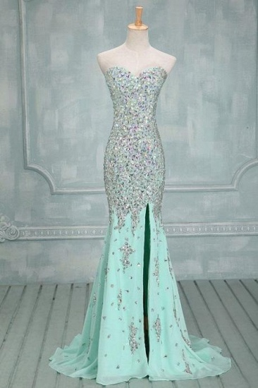 Gorgeous Sweetheart Crystal Prom Dress Long Mermaid Evening Gowns