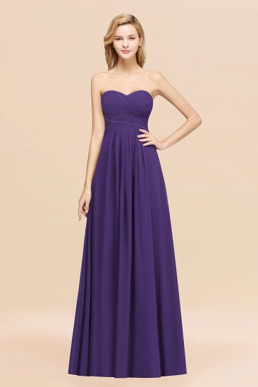 BMbridal Vintage Sweetheart Long Grape Affordable Bridesmaid Dresses Online_19