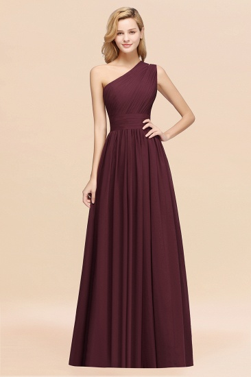 BMbridal Stylish One-shoulder Sleeveless Long Junior Bridesmaid Dresses Affordable_47