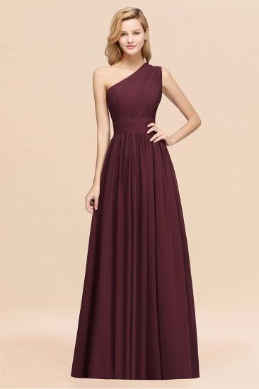 BMbridal Stylish One-shoulder Sleeveless Long Junior Bridesmaid Dresses Affordable_47
