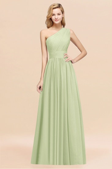 BMbridal Stylish One-shoulder Sleeveless Long Junior Bridesmaid Dresses Affordable_35