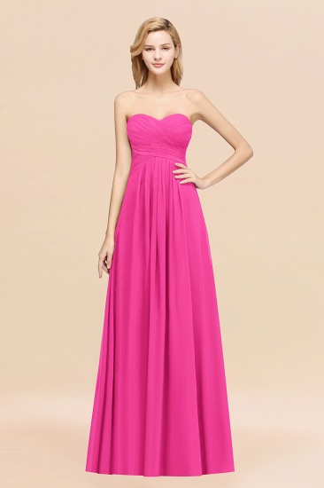 Vintage Sweetheart Long Grape Affordable Bridesmaid Dresses Online_9