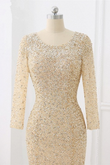 BMbridal Sparkly Sequined Jewel Mermaid Prom Dresses with Long Sleeves Online_10