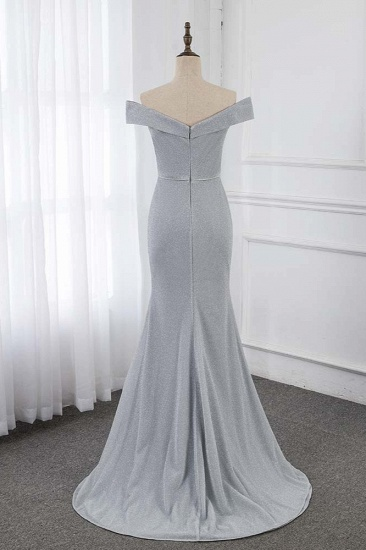 Chic Off-the-Shoulder Sleeveless Long Prom Dresses with Front Slit Online_3
