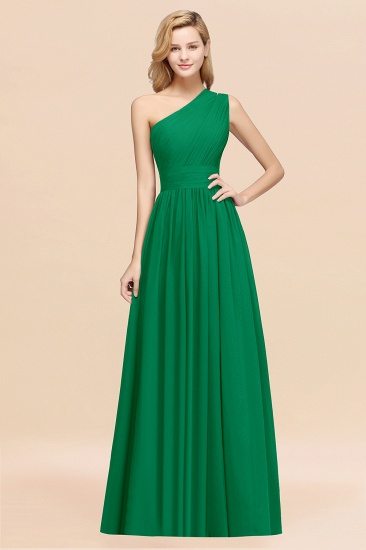 BMbridal Stylish One-shoulder Sleeveless Long Junior Bridesmaid Dresses Affordable_49