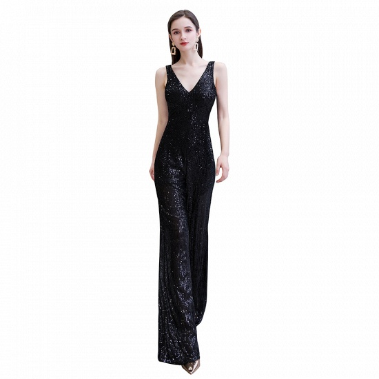 Stunning Sequins V-Neck Sleeveless Jumpsuit Event Party Gowns On Sale_1