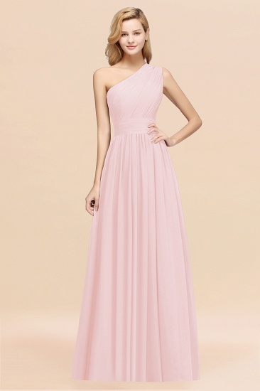 Stylish One-shoulder Sleeveless Long Junior Bridesmaid Dresses Affordable_3
