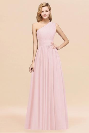 BMbridal Stylish One-shoulder Sleeveless Long Junior Bridesmaid Dresses Affordable_3