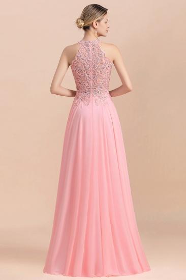 BMbridal A-line Chiffon Lace Ruffles Bridesmaid Dress with Beadings_3