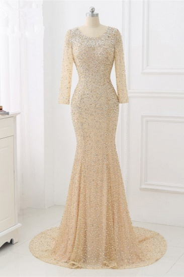 BMbridal Sparkly Sequined Jewel Mermaid Prom Dresses with Long Sleeves Online_7
