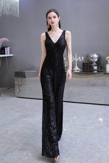 Stunning Sequins V-Neck Sleeveless Jumpsuit Event Party Gowns On Sale_12
