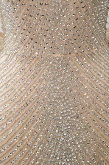 BMbridal Sparkly Crystals High-Neck Prom Dresses with Front Slit Online_6