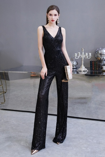 BMbridal Stunning Sequins V-Neck Sleeveless Jumpsuit Event Party Gowns On Sale_1