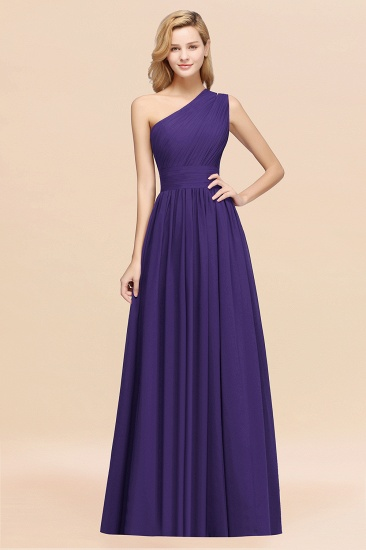 BMbridal Stylish One-shoulder Sleeveless Long Junior Bridesmaid Dresses Affordable_19