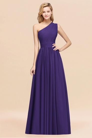 BMbridal Stylish One-shoulder Sleeveless Long Junior Bridesmaid Dresses Affordable_19